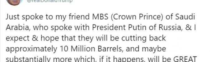 Trump está presionando al WTI hacia los 25 USD por barril